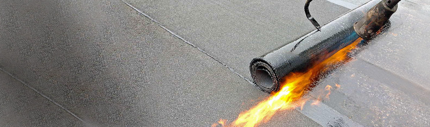 commercial torch on roofing